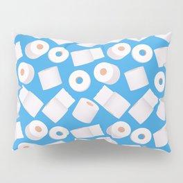 Toilet paper rolls on blue (pattern) Pillow Sham
