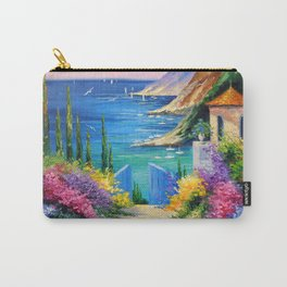 Sunny road to the sea Carry-All Pouch