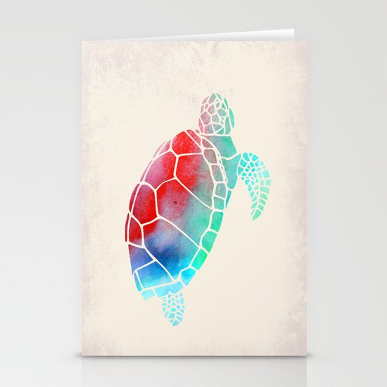 Watercolor Turtle Stationery Cards