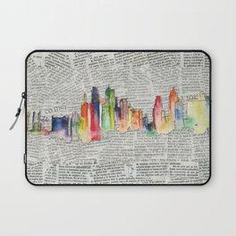 Watercolor skyline Laptop Sleeve