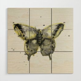 Yellow and Gray Butterfly Wood Wall Art