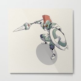 Knight Robo THETA Metal Print