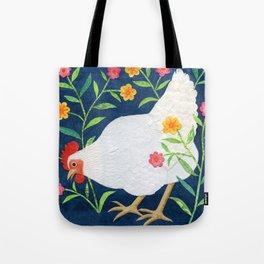 White Chicken #2 Tote Bag