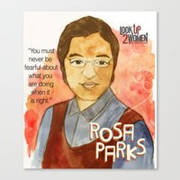 parks Canvas Prints featuring Rosa Parks by The History Witch