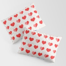 In Love with Hearts Pillow Sham