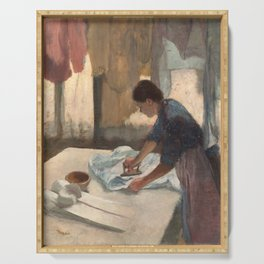 Edgar Degas, Woman Ironing, 1887 Serving Tray