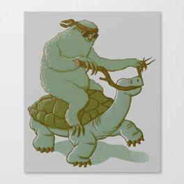 Slow Ridin' Sloth Canvas Print