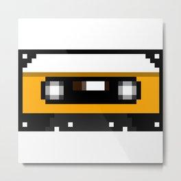 Yellow Cassette Metal Print
