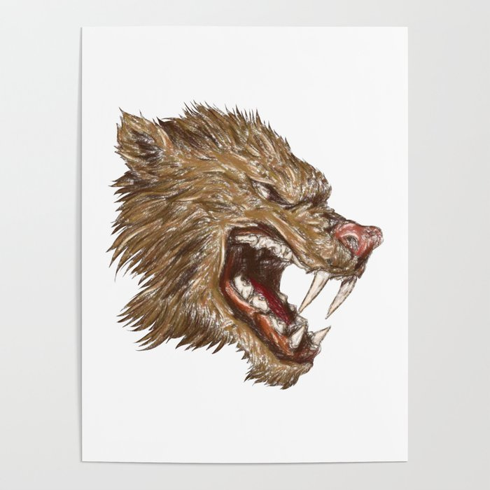 Head with sharp teeth Poster