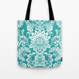 Damask in emerald Tote Bag