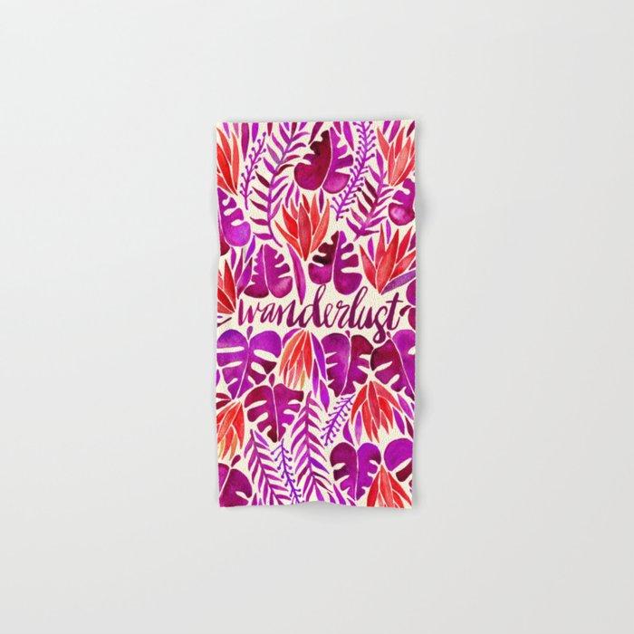Tropical Wanderlust – Magenta Palette Hand & Bath Towel