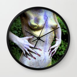 Glitter Figure Wall Clock