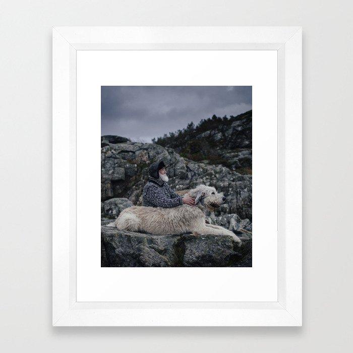 Finn & Don. Framed Art Print