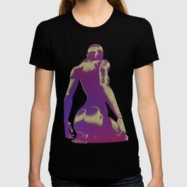 Golden Seated Goddess purple cut version T-shirt