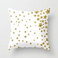 Starry Magic - White Throw Pillow