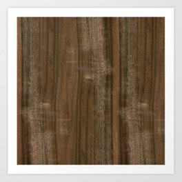 Australian Walnut Wood Art Print