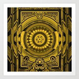Yellow Sunflower Card Deck Cover Art Print