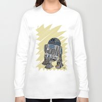 r2d2 Long Sleeve T-shirts featuring R2D2 by Rebecca Bear