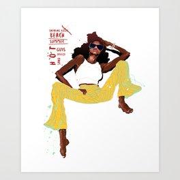 hot girl Art Print