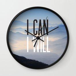 I Can I Will Wall Clock