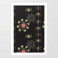 firefly Art Prints featuring Firefly by Nicky Ovitt