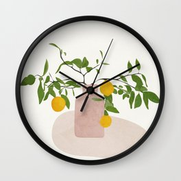 Lemon Branches Wall Clock