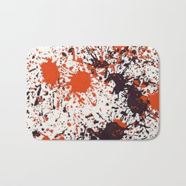 Action Painting No 123 By Chad Paschke Bath Mat