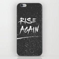 Inspirational Poster - Rise Again (Black & White) iPhone & iPod Skin