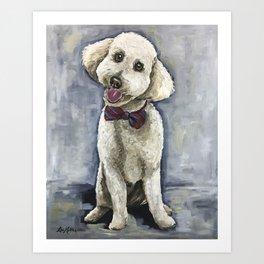 Unique Golden-Doodle Art, Fun Dog Art Art Print