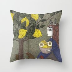 The Lemon Picker Throw Pillow