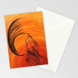 Angel under cover Stationery Cards