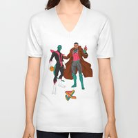 nightcrawler V-neck T-shirts featuring Parkcrawler and Ginobilit by Joey Cienian
