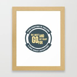 Numismatic Coin Collector Enthusiasts Design Framed Art Print