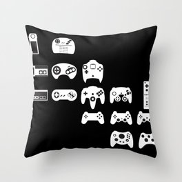 History of gaming Throw Pillow