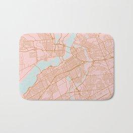 Pink and gold Ottawa map Bath Mat