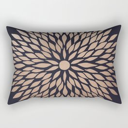 Rose Gold Flower Rectangular Pillow