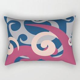 Koru Pattern, Navy Background Rectangular Pillow