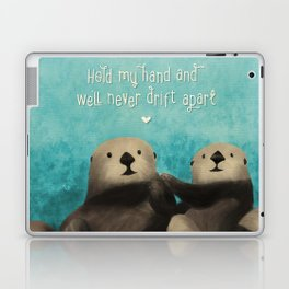 Sea Otters in Love Laptop & iPad Skin