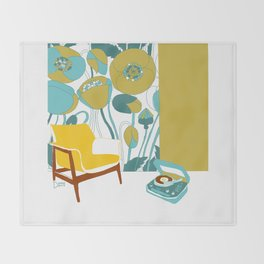 The yellow chair Throw Blanket