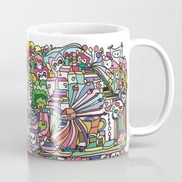 doodle owl village Coffee Mug