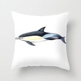 Common dolphin (Delphinus delphis) Throw Pillow