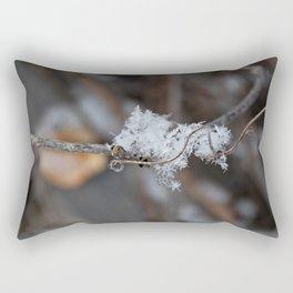 Delicate Snowflake Rectangular Pillow