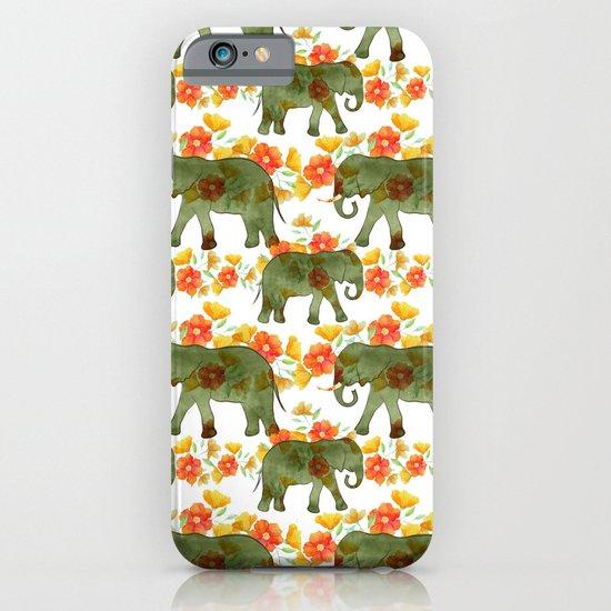 Wading Elephants iPhone & iPod Case