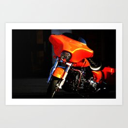 Orange Metal Art Print