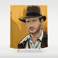 indiana Shower Curtains featuring Indiana by Akyanyme