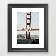BAY GULLS Framed Art Print