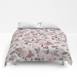 Romantic Vintage Woman with Roses Comforters