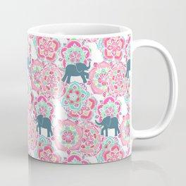 Tiny Elephants in Fields of Flowers Coffee Mug
