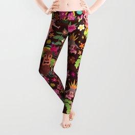 Hula Cuties Pattern Leggings