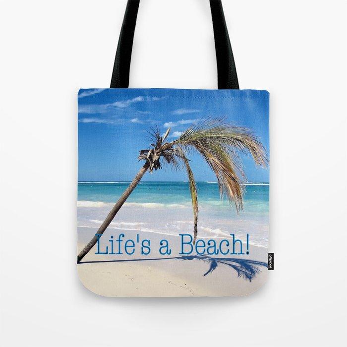 Landscape | Palm and Beach | Life's a Beach! | Nadia Bonello Tote Bag